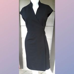 Calvin Klein Black Cocktail Formal WrapUp DRESS 4P